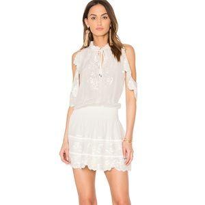 Parker off the shoulder Embroidered Dress